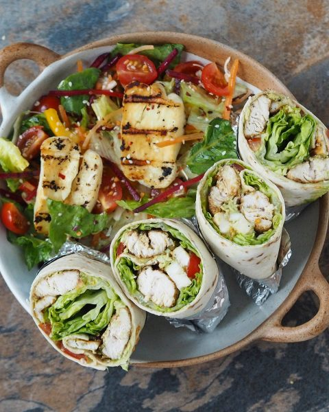 Chicken and Halloumi Wraps