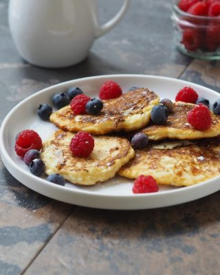 High Protein Cheese Pancakes