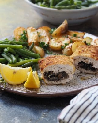 Chicken Kiev with Baked Potatoes Recipe
